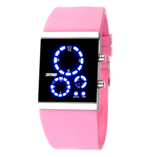 Fashion sports electronic watch led jelly ladies watch candy color waterproof watch(China (Mainland))