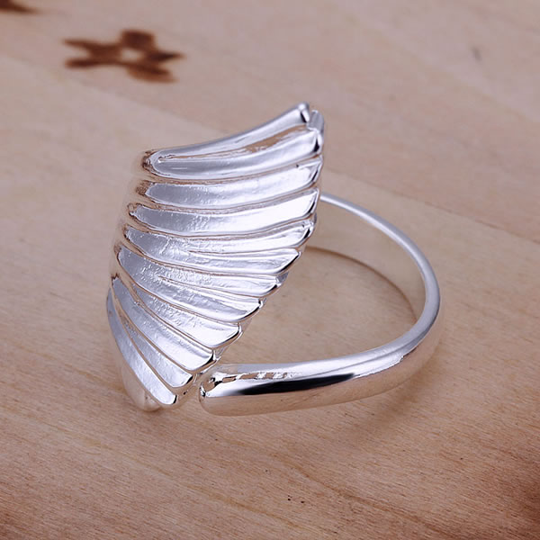 Free shipping 925 sterling silver jewelry ring fine graceful angel wing ring top quality wholesale and retail SMTR122(China (Mainland))