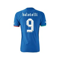 BALOTELLI 9# Italy Home thai quality football Shirt 2013/14, size: S - XL,Free shipping. (original brand & tags)