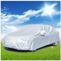 Free Shipping/wholesale universal car protect clothing +prevent bask anti dust rain car garment+ nylon auto car covers  C-12