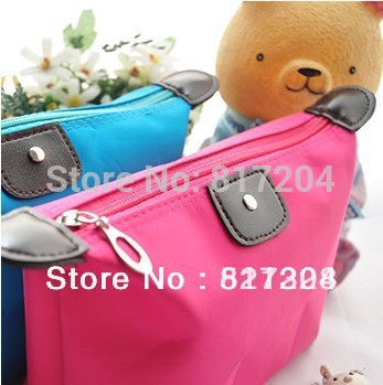 Summer new Simple cosmetic bag Fine fashion Folding Pouch Waterproof wash sieve Cosmetic Bag Free shipping F282(China (Mainland))