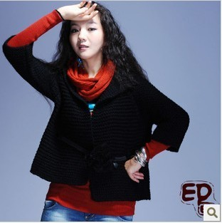 Q52 painting handmade needle casual trend elegant national cardigan outerwear(China (Mainland))