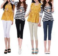 Size S-XXL,New Korean Style Summer Pencil Capris Pants,Women Slim Fashion Cotton Capris trousers,Free Shipping LJ401