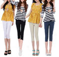 Size S-XXL,New Korean Style Summer Pencil Capris Pants,Women Slim Fashion Cotton Capris trousers,Free Shipping LJ401