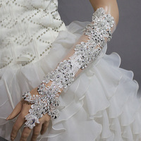 Fashion luxury rhinestone gloves long design the bridal gloves/ dance gloves