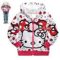 Free shipping 6pcs/lot Kids boys girls cartoon hello kitty Hooded/Sweatshirts baby spring autumn hoodies outwear