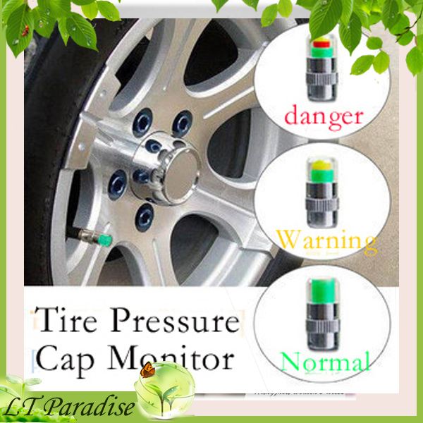 Free Shipping Car Accessories Tire Pressure Monitor Cap 36PSI (24bar) Auto Tire Pressure Sensor Eye Alert 3 Colors 4pcs/set(China (Mainland))