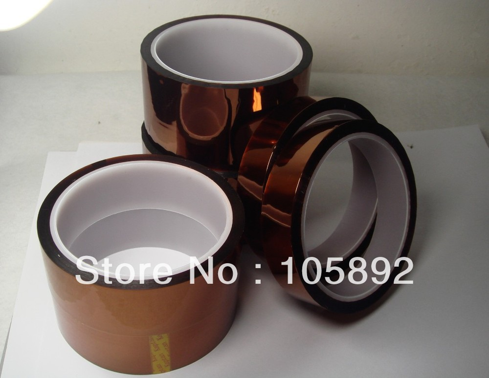 3PCS High Temperature Resistant Heat Tape for Kapton 10MMX 33M BGA PCB SMT Soldering Shielding(China (Mainland))