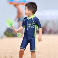 Big boy baby cartoon sunscreen child one-piece swimsuit swim trunks male child swimwear set