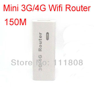 New Portable Mini Wireless 3G Wifi Hotspot Router 150Mbps suppport 3G USB Modem Free Shipping(China (Mainland))