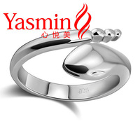 Free shipping 925 sterling silver snake ring female models ring opening can be adjusted Snake Silver Ring