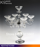 Crystal Candle holders for Glass Wedding & Table centerpieces