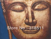Hand painted wall art paint home decoration buddha paintings canvas oil painting model digital printing canvas print