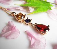 AAA  zircon mona lisa crystal necklace girlfriend gifts Christmas gift for women