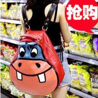 2013 hippopotami spring bag cartoon casual student school bag backpack women's handbag