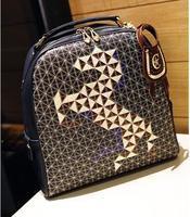 2013 backpack female preppy style backpack vintage women's handbag patchwork embroidery bag student school bag