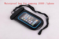 Free shopping Hot sale WaterProof Pouch Case Bag With hang rope  For Samsung Galaxy S3 i9300
