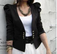 2013 short jacket puff sleeve women's cardigan blazer small cape all-match fashion outerwear female cape