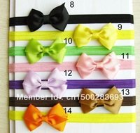 Free Shipping!! Cute Baby Girl Hair Bow With elastic Hairband 60pcs/lot