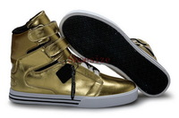 Wholesale Popular Justin Bieber Men's Popular Skate Board Shoes (gold)