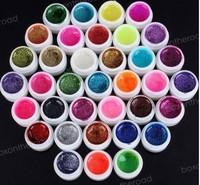 wholesale 36 Colors Glitter shiny UV Nail Art Tips Gel