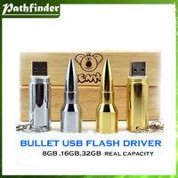 Free shipping wholesale price 5pcs/lot bullet usb flash driver real capacity 8GB,16GB,32GB flash memory high quality