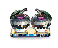 Free Shipping crystal apple gift wedding gift homedecoration DB-LP8019