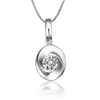 Zhuo Shi genuine fate Round 50 Silver plated necklaces pendants gemstone pendant top simulation Ruili wind