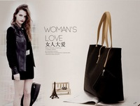 Free shipping2014 new European and American stylefashion wild temperament female bag large capacity coin pouches attached