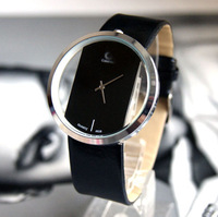 Watch female fashion personality transparent lady brief beautiful student watches strap paragraph