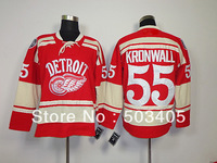 Red Wings  #55 KRONWALL 2014 winter classic blue hockey Jerseys, mix order