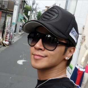 5 pcs/lot 2013 Truck cap male women's hiphop mesh cap hip-hop trucker hats summer sun-shading hat for men