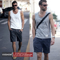 Viishow2013 summer men's clothing vest basic casual pure cotton undershirt vest male vest