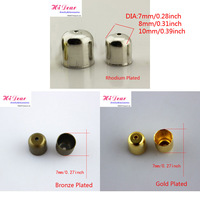 Wholesale DIY Jewelry/Scarf Making Findings/Accessory Metal Tessels/Tapered/Pendant Bead Caps Connectors Clap Hook 3 Colors 7mm