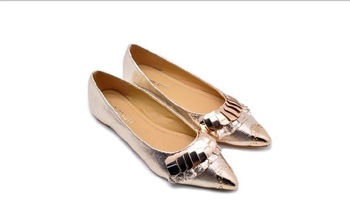 2013 new shoes women shoes shallow mouth flat shoes European and American style hot metal decorating styles