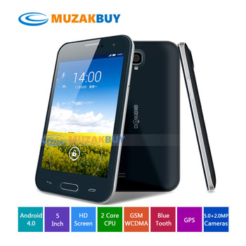 Android Phone Dual Core Cell phone WCDMA 3G GSM 5 inch Screen 1G RAM 4G ROM  GPS Bluetooth WIFI