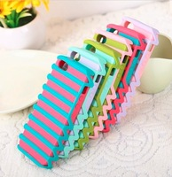 new style candy color fashion two layers 5colors women favorite case for iphone 4 4s promotion case