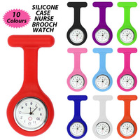 Wholesale 10Pcs Silicone Jelly color nurse watches nurse watch nurse watch pocket watch
