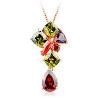 Using AAA zircon colorful color zircon necklace product the Mona Lisa