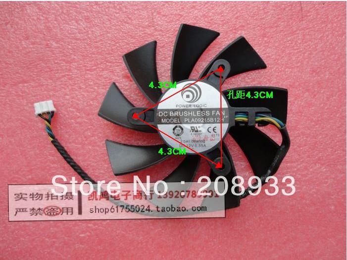 The MSI N580GTX fan PLA09215B12H diameter 8.6CM holes 4.3CM graphics card fan+cooling fan(China (Mainland))
