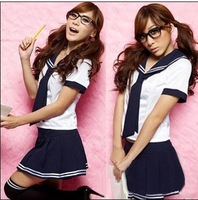 Fashion temptation student clothing japanese style classes school uniform women's sexy uniforms lounge one-piece dress