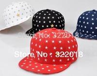 Wholesale 6pcs Personalized Star Men Flat Bill Baseball Hat Mens Snapback Hats Women Flat Brim Cap Womens Sport Snap Back Caps