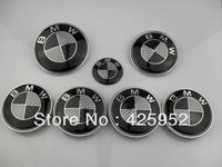 Free shipping carbon fiber front and rear sets of  standard steering wheel standard  real  blackwhite