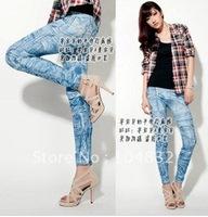 female  women  s Fake Jeans Seamless Jeggings Leggings Plus Size