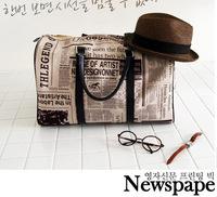 2012 newspaper bag travel one shoulder handbag cross-body bags large