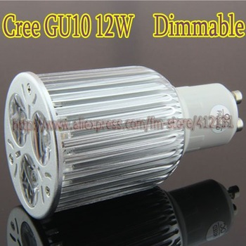 Wholesale - 100% LED cree chip free Shipping Dimmable LED Lamp Gu10 4x3W 12W Light Bulbs 6pcs/lot