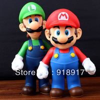 Free Shipping Super Mario Bros Figures 2 pcs/Set Mario + Luigi toys gifts