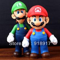 Free Shipping Super Mario Bros Figures 2 pcs/Set Mario + Luigi toys gifts