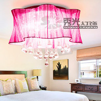 Fashion flower petals lamp crystal drop lamp ceiling light bedroom lights living room lamps lighting Free Shipping