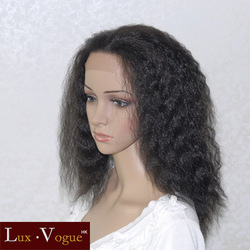 Imitate human hair women's no lace Kanekalon Style Handsewn Perruque FULL LACE FRONT Kinky Wigs(China (Mainland))